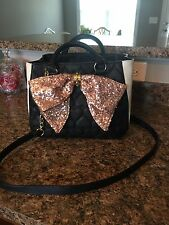Betsey Johnson Bucket Bag with pink sequin bow