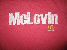 MCDONALDS MCLOVIN T SHIRT Retro I'M LOVIN' IT Fast Food Distressed Adult SMALL