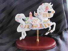 LENOX 2002 CHRISTMAS GINGERBREAD CAROUSEL HORSE SCULPTURE FIGURINE