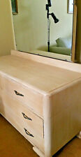 Retro - 4 Drawer Dresser With Mirror