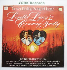 LORETTA LYNN & CONWAY TWITTY - Never Ending Song Of Love - Ex Con LP Record MFP
