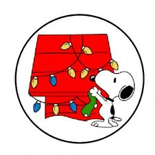 48 SNOOPY CHRISTMAS ENVELOPE SEALS LABELS STICKERS 1.2