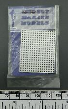 Model boat fitting - white plastic grating by Mersey Marine - 41 x 33 mm