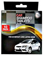 Fast Lane 10 x 24g Car Shampoo Tablets - Instant High Gloss Long Lasting Shine