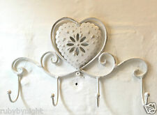 Shabby Chic Hooks Wall Mounted French Vintage Bathroom Bedroom Storage Heart