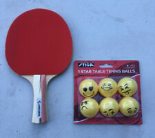 Sportcraft Table Tennis Ping Pong Paddle with 6 new emoji balls FREE SHIPPING!!!