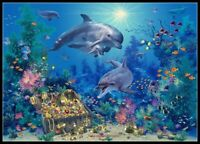 Dolphin Family Variant - Chart Counted Cross Stitch Pattern Needlework Xstitch