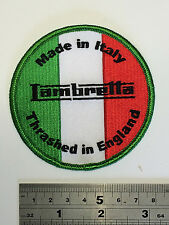 Lambretta Made In Italy - Patch - Embroidered - Iron or Sew On