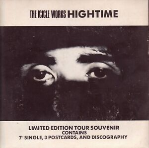 """The Icicle Works – High Time. 7"""" + Postcards. Mint (Cover is VG)"""
