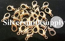 25 Gold plated metal lobster claw parrot trigger jewelry clasps 16mm fpc222