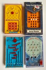 Set 4 Tomy 70's Pocket Games Jump Master Lucky Ball Tic Tac Score Turn n Tilt