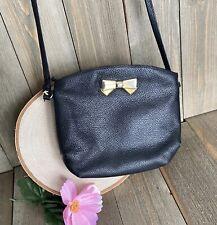 Bag Purse Nina Ricci Vintage Black Leather Crossbody Small Signed Vintage