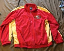 NFL SAN FRANCISCO 49ERS Soft Shell Zip Up Lined Jacket RED Size- XL