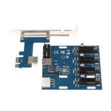 PCI-E 1X To 4 Slot PCI-e Switch Multiplier Expander HUB Expansion Riser Card