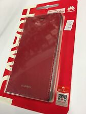 Huawei P8 Lite Fitted Flip Leather Case Diary Style in Red JR 5B 008741 Original