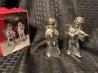 Godinger Silver Plate Cherub Angel Salt & Pepper Shakers Holiday Christmas