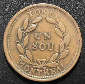 Canada (Montreal) 1838 Belleville Bouquet Sou Token:  BR#676