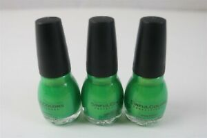 LOT OF 3 SINFUL COLORS NAIL POLISH - HAPPY ENDING - GREEN 946