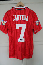 MANCHESTER UNITED 1992/1993/1994 HOME FOOTBALL SHIRT JERSEY CANTONA MEDIUM