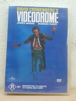 VIDEODROME DVD David Cronenberg 1982 Movie - James Woods - Deborah Harry REG 4