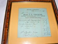 ANTIQUE 19THC RECEIPT GREENGROCER BOUGHT BY MRS GRIFFITHS PEMBROKESHIRE