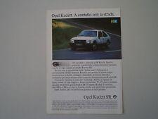 advertising Pubblicità 1981 OPEL KADETT SR