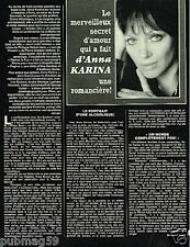 Coupure de Presse Clipping 1983 (3 pages) Anna Karina