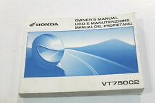HONDA LIBRETTO USO E MANUTENZIONE PER VT750 C2 06-07