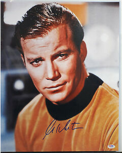 PSA/DNA SIGNED 16X20 PHOTO WILLIAM SHATNER 135