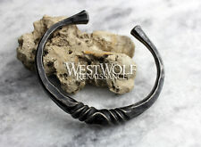 Hand-Forged Twisted Steel Torc --- Viking/Celtic/Blacksmith Bracelet/Band/Cuff