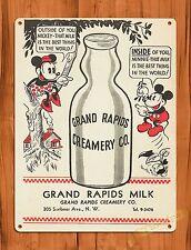 "TIN-UPS Tin Sign ""Mickey Mouse Dairy Milk Ad"" Walt Disney Ride Art Poster"