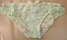 M & S Sze 12 Bikini Knickers Panties Briefs Sheer floral lace apple yellow RRP£6