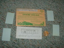 Champ  decals HO HC-392 Missouri Pacific 50 ton twin hopper pan. ribbed side F51