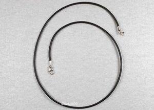 Lederkette nach MASS 2mm Herren Kette Halskette Leder Halsband schwarz braun HK