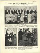 1922 Wilts Yeomanry Ball Beaufort Hunt Group Rugby Headingley Edward Platts