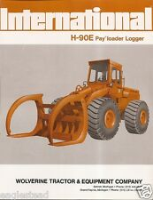 Equipment Brochure - International - IH H-90E - Pay Loader Logger - 1974 (EB892)