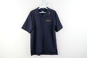 Vintage 90s Champion Mens Medium University of Michigan Spell Out Polo Shirt USA