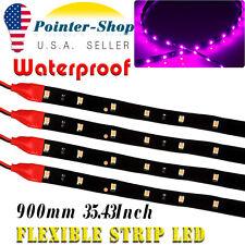 4X 2835 SMD 90CM High Power Waterproof LED Flexible Car Motor Light Purple US