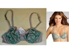 La Perla Charming Flowers Bra in Green & Grey Size 32C 905493 MSRP $92