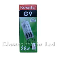 10x KOSNIC G9 28w=40w Halogen DIMMABLE ENERGY SAVING bulbs Capsule Watt fused UK