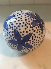 Blue & White Porcelain Ceramic Balls /Carpet Balls/ Spheres /Orbs Large