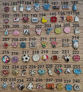 No 181- 240 floating charms for Memory Locket