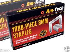 1000pc 8mm Punti Ricarica migliore qualità AMTECH Cucitrice a tackers 11.3x0.7x8mm