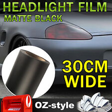 2pcs 30 x40 cm Matte Black Car Headlight Tint Film Tail Fog Light Overlay Decals