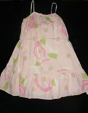 EUC Gap Kids Girls GARDEN PARTY Pink Floral Belted Cotton Maxi Dress Size M / 8