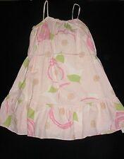 EUC Gap Kids Girls GARDEN PARTY Pink Floral Belted Cotton Maxi Dress Size M / 8