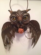 Bethany Lowe Vergie Lightfoot Halloween Flying Owl Bucket--retired