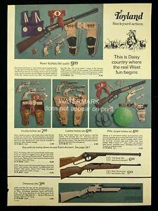 1973 MCM Toyland Buffalo Bill Outfit Daisy Cap Pistols Print Advertising 625A