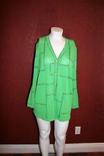 STIZZOLI EVENING GREEN KNIT CARDIGAN BUTTONS FRONT MADE IN ITALY 54