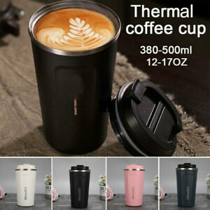Insulated Travel Mug Stainless Steel Tumbler Coffee Cup Hot Water Thermal Bottle